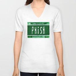 Phish license plate Unisex V-Neck