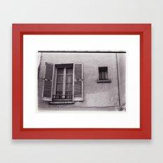 Grande fenêtre, petite fenêtre Framed Art Print