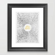 Hello Sunshine Silver Framed Art Print