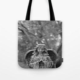 Black and White Angel Tote Bag