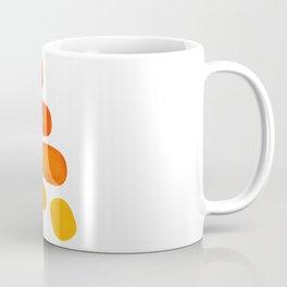 Mid Century Modern Colorful Minimal Pop Art Yellow Orange Ombre Rainbow Gradient Pebble Ovals Coffee Mug