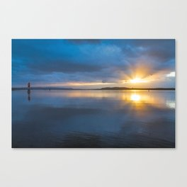 Winter Sunset at the Hollering Place Canvas Print