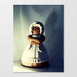 Menacing Ceramic/Burlap Horror Doll Canvas Print