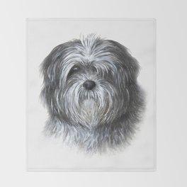Dog 138 Shih Tzu Throw Blanket
