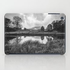 Dramatic sky and reflections on the River Brathay at Elter Water. Lake District, UK. iPad Case