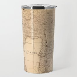 Map Of Lake Tahoe 1874 Travel Mug