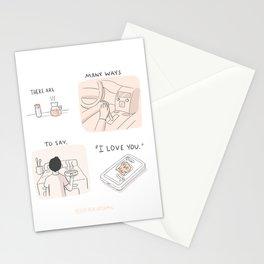 "Many Ways to Say ""I love you."" Stationery Cards"