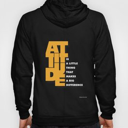 Lab No. 4 - Attitude is a little thing Winston Churchill Inspirational Typography Quotes Poster Hoody