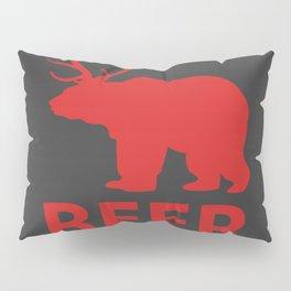 DEER & BEAR = BEER Pillow Sham