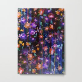 Floral Ombre invert Metal Print