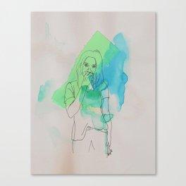 Certainly Uncertain Girl Canvas Print