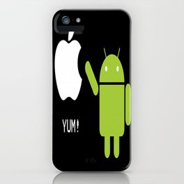 Android eats apple iPhone Case