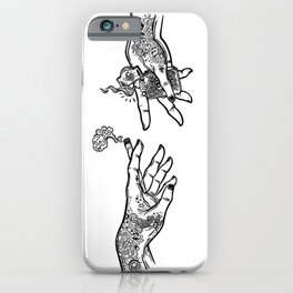 the creation of cannabis iPhone Case