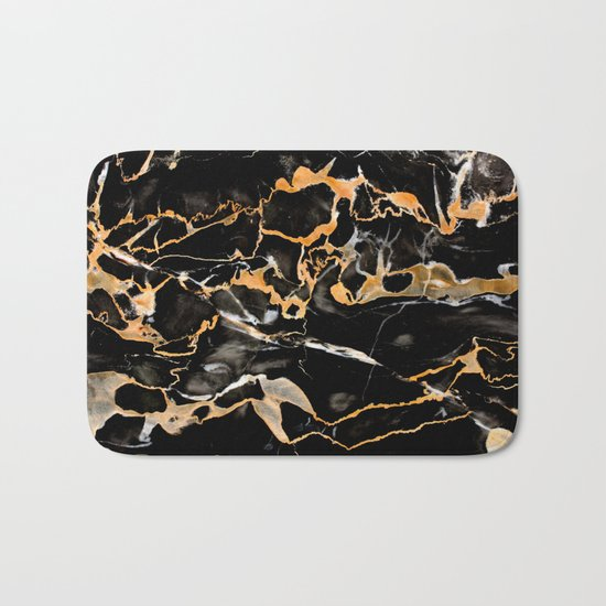 Black & gold marble Bath Mat