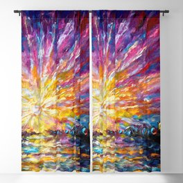 Enchanted Sunrise Panorama Blackout Curtain
