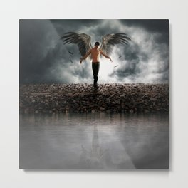 The Guardians of Angels Metal Print