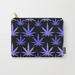 Marijuana Violet Blue Weed Carry-All Pouch