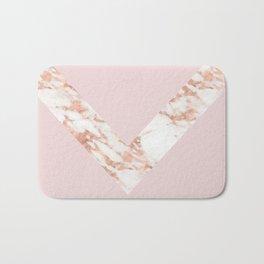 Queen pink - rose gold chevron Bath Mat