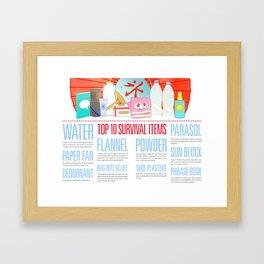 Beat the Heat Framed Art Print