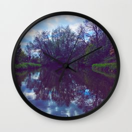River Reflection Wall Clock