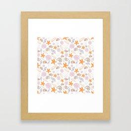 Seashell Print Framed Art Print