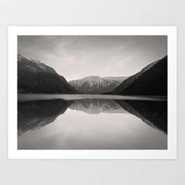 Mirroring. Lake Achensee in Tyrol. Art Print