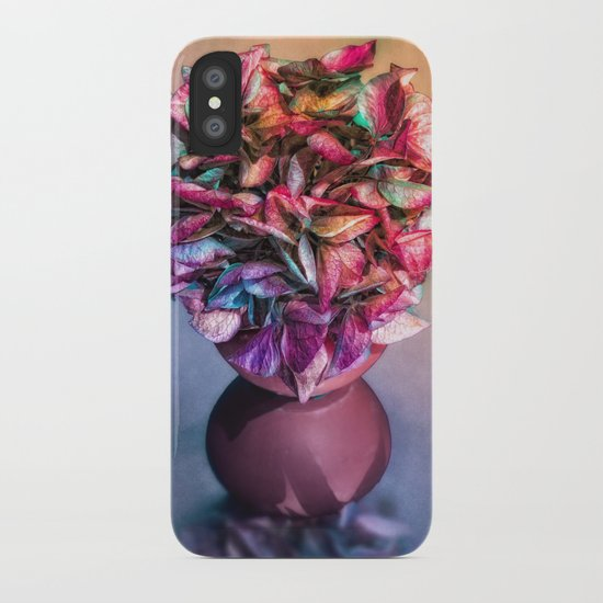STILL LIFE WITH HYDRANGEA IN A VASE iPhone Case
