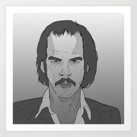nick cave Art Prints featuring Nick Cave by Alfredo Torres