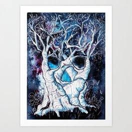 Galaxy Skulltrees. Art Print