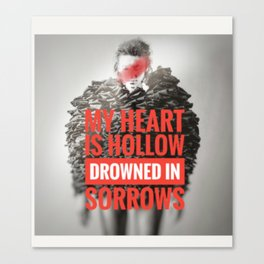 Drowned In Sorrows Canvas Print
