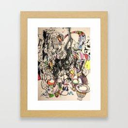 Shaman Ghost Drummer Framed Art Print