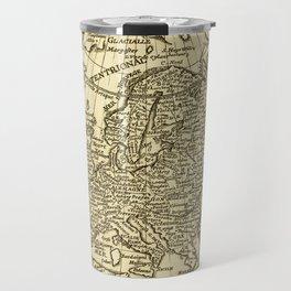 Vintage map of Europe Travel Mug
