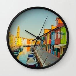 Burano Island Wall Clock