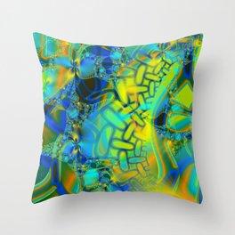 Abstract Layering Throw Pillow
