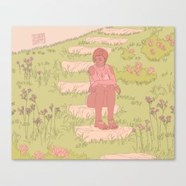 mysterious people in gardens/woods 3 Canvas Print