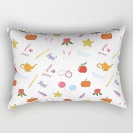Fairy Tales Icons Kawaii Pattern Rectangular Pillow