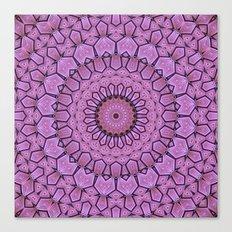 Pink Pattern Mandala Canvas Print