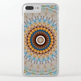New Color Pyramidal Mandala 53 Clear iPhone Case