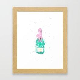 Bottle of champagne Framed Art Print