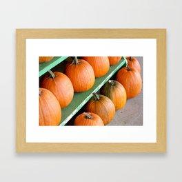 The Pumpkin Stand Framed Art Print