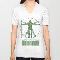 halo V-neck T-shirts featuring vitruvian Halo by tshirtsz