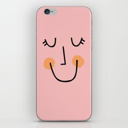 Winky Smiley Face in Pink iPhone Skin