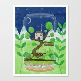 Terrarium Home Canvas Print