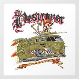Mutant Destroyer Bus Art Print