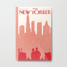 Reds Vintage New Yorker - Recolored 2 Metal Print