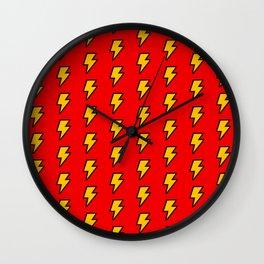 Cartoon Lightning Bolt pattern Wall Clock