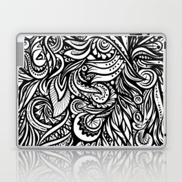 Black and White Abstract Design Laptop & iPad Skin