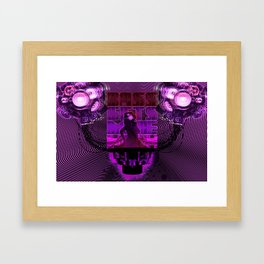 Bass gets me high Framed Art Print
