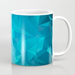 Blue Polygonal Mosaic Coffee Mug