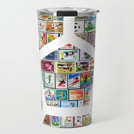 Philately Soccer Ball Travel Mug